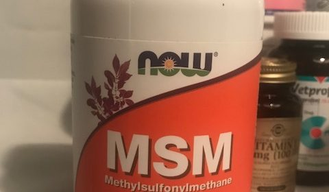 Image of MSM Human Grade Joint Supplement that I give My Dog for Joint and Arthritis Relief
