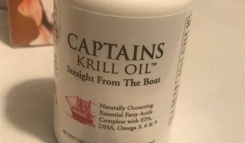 Image for article where to buy krill oil for dogs. Captains Krill Omega 3 Oil which I give my dog for joints and arthritis.