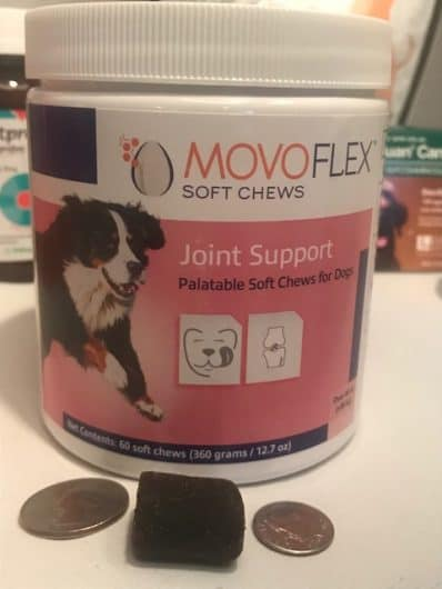 Movoflex is an amazing supplement for dogs suffering from arthritis pain. It has helped my dog get up and jump into the car.