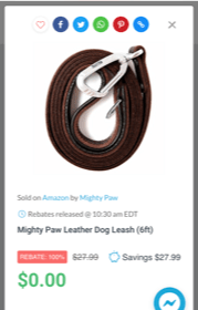 image of free dog leash